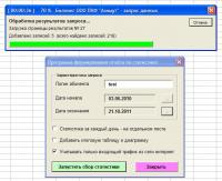 Форма выбора параметров запроса статистики
