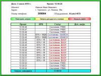 Результат вывода данных на лист модуля диагностики терминалов DECT