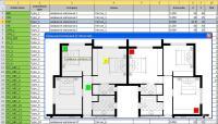 Отображение всех объектов на графическом плане этажа